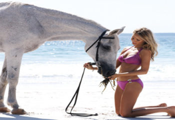 Beautiful Girls with Their Horses